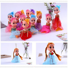 Manufacturer direct sale mini - barbie doll pendant plastic bag accessories hanging pieces confused  The little mermaid 12 / package