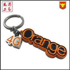 Manufacturer customized metal paint key ring advertising promotion small gift key ring cute cartoon  custom