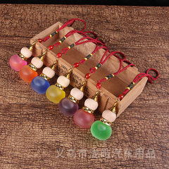 New hanging decoration car perfume seven colors can be selected gourd car perfume accessories auto i green