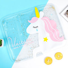 Summer transparent gel ice cushion students ice crystal cool seat cushion car cooling water cushion  Square ice pad - flamingo style