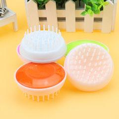 Spot wholesale round pet bath brush hand - held dog bath brush cleaning brush massage brush dog supp NLH - 16