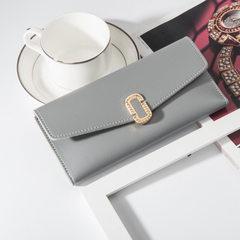 Ladies purse long style Korean style pure color handbag hot style large capacity zero purse ladies c black