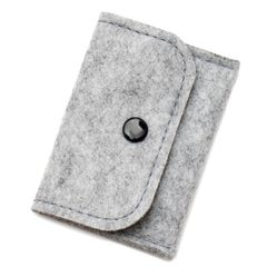 Manufacturers direct selling felt purse simple fashion button felt bag compact portable felt wallet Can be customized