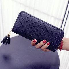 Wholesale new ladies purse long hand bag zipper multi - card position tassel purse manufacturers dir white