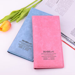 New Japanese and Korean version wallet women long thin lady card bag fashionable multicolor soft lea yellow