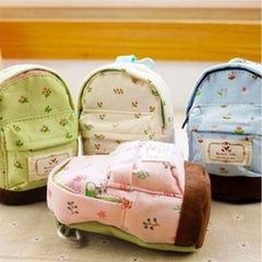 Hot selling small fresh sennengfeng rural flower miniature schoolbag lovely schoolbag and purse white