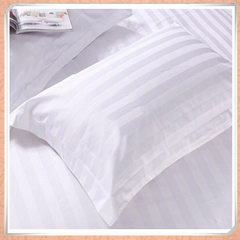 The factory supplies the white pillowcase with terylene stripe for hotel guest rooms white 53 * 80