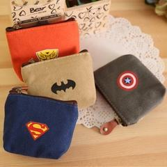 Japan and Korea version of the creative heroes alliance canvas zero wallet key bag personalized coin batman