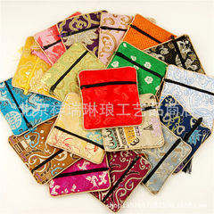 Direct sale of Chinese embroidery silk small lotus bag yun jin zero purse foreign affairs study abro Green is