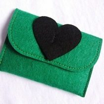 Felt zero purse fashionable and beautiful felt bag specifications complete spot supply can be custom Spot small batch