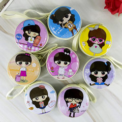 Korean version of the little fresh cartoon girl zero purse headset box mini portable coin bag manufa Small series random mix