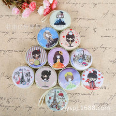 Korean version creative cartoon coin bag tinplate zero purse coin bag earphone zipper bag manufactur Cute little mixed batch