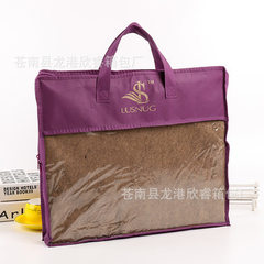 Manufacturer wholesale custom - made blanket puffer bag transparent PVC nonwoven home textile zipper custom