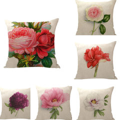 Flower bud holds pillow case office sofa cushion pillow flax holds pillow car back to hold pillow cu 01 45 * 45 cm