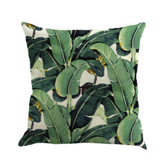 Amazon eBay tropical plant leaf linen pillow car sofa cushions pillow covers 1 45 * 45 cm excluding core