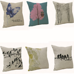 Cross - stitch pillow home linen cushion butterfly bird animal car cushion creative without core 138 45-45