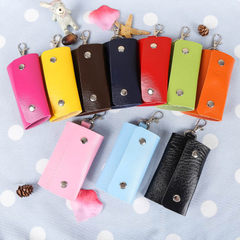Manufacturer direct sales of new men`s and women`s key bags color key bags button car key bags large yellow