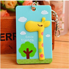 South Korea lovely stereo card set student card rice card bus card pack cartoon bank card cover with The giraffe # YPHG - O600 # 6.3 * 0.6 * 0.6 CM