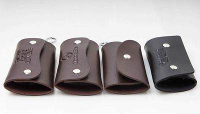 Automobile genuine leather key package manufacturer direct sales genuine leather lock household key  black