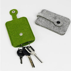 Manufacturers direct marketing creative wool felt car key bag key ring can be customized according t Can be customized