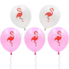 International hot flamingo latex balloon children`s day summer party decoration balloon 12 inch pink flamingo