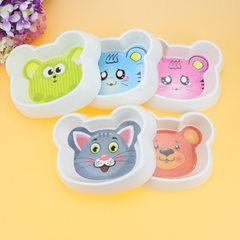 现货批发宠物碗 环保密胺碗 卡通小熊型猫碗狗碗 狗狗食盆饮水碗 图案混发