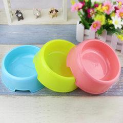 现货批发 狗碗猫碗宠物碗特价单碗 狗盆猫盆塑料狗食盆 宠物用品 粉色