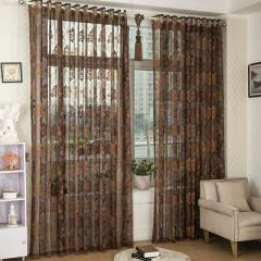 Direct sale european-style jacquard window screening breathable light bedroom balcony living room st B - 17 brown
