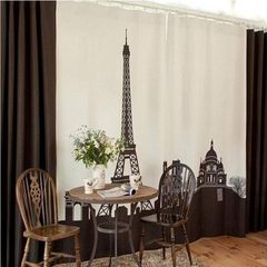 Domineering castle iron base printing curtain South Korea synchronous living room positioning curtai The castle