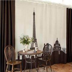 Domineering castle iron base printing curtain South Korea synchronous living room positioning curtai The tower