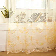 Jacquard curtain window screening hollow breathable bedroom balcony living room study window decorat A166 beige