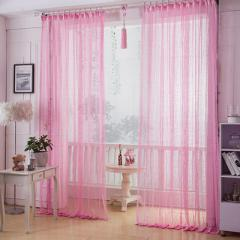 Factory direct sale lace hollow-out curtain window screen bedroom balcony living room study adornmen pink