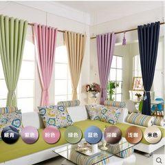 厂家直销纯色环保高精密遮光窗帘工程窗帘卧室窗帘布窗帘布批发 黑色
