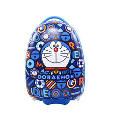 幼儿园男女童书包卡通蛋壳行李箱小学生硬壳卡通可爱儿童旅行箱 叮当猫圆 16寸