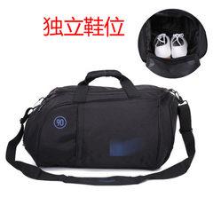 Independent shoe position football basketball sports bag single shoulder travel bag custom round fit white