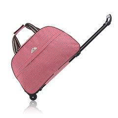 厂家直销牛津拉杆包 大容量旅行包 防水折叠行李包袋 短途旅行箱 黑色 20寸