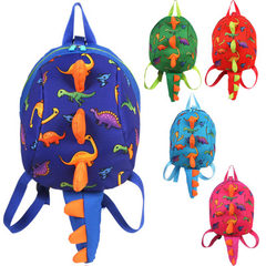 Dinosaur children backpack prevention loss kindergarten 3-6 years old baby backpack travel parent-ch red