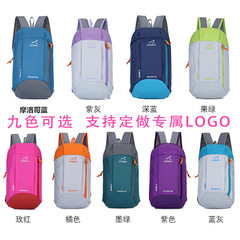 Processing custom logo children backpack travel bag backpack shoulder backpack men`s and women`s sma purple 15 l