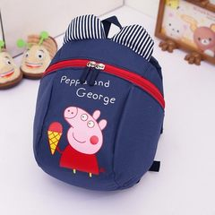 Kindergarten anti-loss backpack haulage rope 3 years old boys and girls small page piggy children`s  The pig red