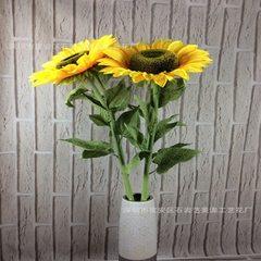 Simulation sunflower flower single head big sunflower photography background soft decoration home de One big sunflower