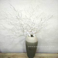 仿真树枝 珊瑚枝 大树枝 多叉 装饰背景 软装装饰 摆件 家居装饰 90CM白树枝