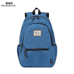 Manufacturers direct Oxford cloth men`s backpacks leisure large capacity students backpacks outdoor  black 18.5
