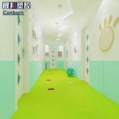 1.6纯色塑胶地板厂家pvc地板革地胶板素色地胶幼儿园地板环保耐磨 橙色5801