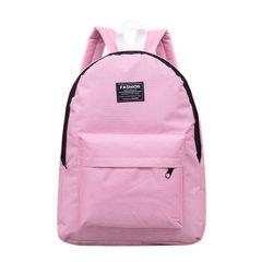 Chic school bag port flavor backpack 2018 new nylon waterproof school students school bag college st white