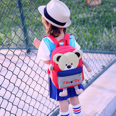Manufacturer wholesale kindergartens schoolbag custom Korean version of cartoon lovely three-dimensi red