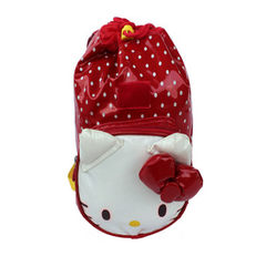 Schoolbag manufacturer customized schoolbag to prevent lost bag for Korean children schoolbag for ch red