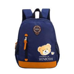 Kindergarten children double shoulder schoolbag small class large class children pack kindergarten s 0516 # sapphire