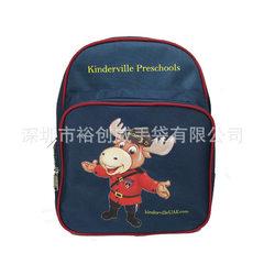 Longgang handbag factory customized Oxford cloth 1680D kindergarten waterproof cartoon student schoo blue