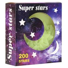 New decorative painting full sky star box with luminous stars attached to children`s room decorative In a box