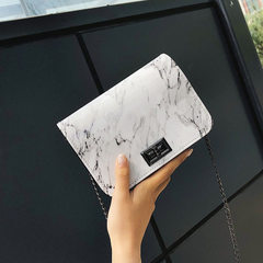Dali stone grain female bag 2018 new style small square bag fashion leisure single shoulder bag chai white